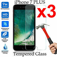 x3 Tempered Glass 9H screen protector Apple iPhone 7 PLUS Front