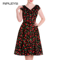 HELL BUNNY Pinup Black 50s Dress CHERRY POP Pie Rockabilly All Sizes