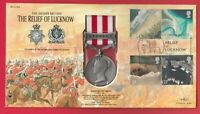 Indian Mutiny Lucknow REPLICA Medal 2002 GB Stamp Cover British Army India 1850s