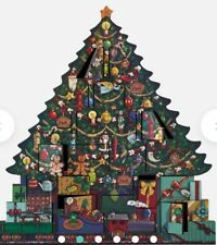 Fortnum And Mason Large Wooden Christmas Tree Advent Calendar