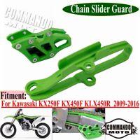 Fit Kawasaki Swingarm Slider W/Chain Guard Guide Protector KX250F KX450F 09-16