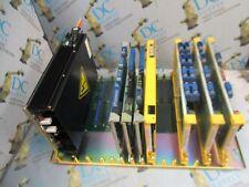 FANUC A20B-1002-0860 BACKPLANE W/ A20B-1000-0770-01 POWER SUPPLY & 7 MODULES