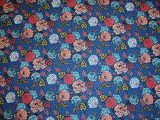 "LIBERTY OF LONDON COTTON FABRIC DESIGN ""Mini Meandering Chrysanthemum"" 1.9 METRE"