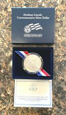 2009 Abraham Lincoln Commemorative Silver Dollar, Uncirculated with box & Coa