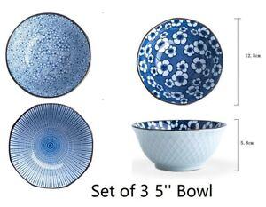 3pcs Crockery Ceramic Cereal soup Dessert Bowl Tableware Serving Dish Bowls Set