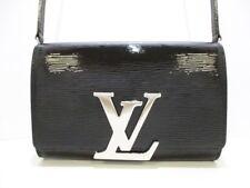 Auth LOUIS VUITTON Pochette Louise PM M41627 Noir Epi Electric Epi Leather