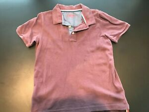 Mini Boden Boys Size 6-7 Years Plum Purple Short Sleeve Polo Shirt