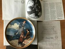 """Waiting On The Shore"" by Norman Rockwell Collector Plate"