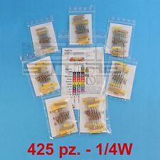 KIT 425 resistenze 1/4W set completo di resistenze 85 valori - ART. A002