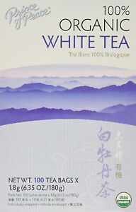 Organic White Tea by Prince of Peace, 100 tea bag 2 pack
