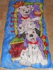 VINTAGE DISNEY 101 DALMATIANS KIDS ZIP UP SLEEPING BAG BEDDING SLEEPOVER WARM