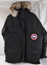 Canada Goose Men's Expedition Parka - Black Size SMALL Coyote Fur NEW WITH TAGS