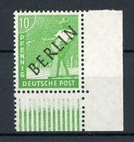 Berlin MiNr. 4 postfrisch MNH Eckrand unten rechts, geprüft (R830