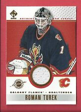2001-02 Pacific Private Stock Game-Used JERSEY 17 ROMAN TUREK Hockey Card
