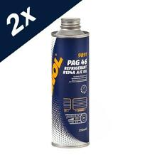 2x250ml MANNOL PAG 46 Refrigerant Air Conditioning Fully Synthetic Oil R134A