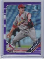 2019 Bowman Chrome #BCP-121 Ryan Helsley Purple Refractor #250 ROOKIE Cardinals