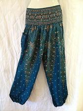Ladies Boho Harem Pants Summer Free Size 16 18 20 Also Maternity BNIP [PS-BLP]