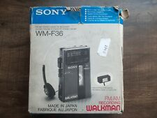 Sony WM F 36 VTG Walkman cassette player Box Manual earphone MDR 010 Powers on u