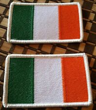 2 IRELAND Flag Military Patch With VELCRO Brand Fastener Shoulder Emblem #5