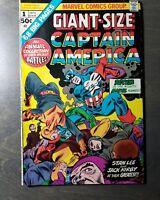 MARVEL COMICS CAPTAIN AMERICA Giant Size # 1 Dec 1975 Greatest Battles