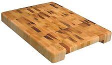 "Wood Chopping Block Butcher Cutting Board Kitchen Island 1.75"" X 12"" X 16.25""USA"
