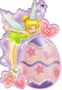 Walt Disney Happy Easter Tinker Bell Magic Colored Egg Hallmark Greeting Card