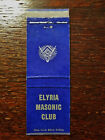 Vintage Matchcover: Elyria Masonic Club, Elyria, OH   30