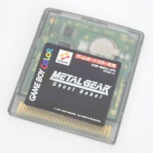 Gameboy Color METAL GEAR Ghost Babel Cartridge Only Nintendo 3373 gbc
