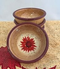 Pfaltzgraff Pinch Bowls Evening Sun Small Hand Painted Spice Cellar Set of 4