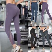 Damen Yoga Leggings Push Up Sport Hose Fitness Gym Laufhosen Stretch Leggins