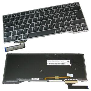 Orig Tastatur DE Beleuchtung QWERTZ  Rahmen Grau ersetzt Fujitsu CP629238-03