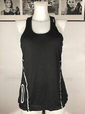 Reebok Athletic Tank REFLECTIVE Women's Yoga Work Out Racerback Side Pocket Sz M
