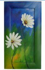 Acrylic Painted Wood Art Frame - Daisy