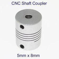 MOTORE CNC mascella ALBERO FLESSIBILE 5mm a 8mm 5x8mm Accoppiatore Accoppiamento do 20x25mm