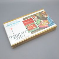Vintage Sealed Box Cardinal Backgammon Teacher Set Game Obolensky Guide Book