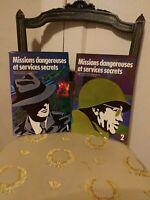 Collectif : Missions Dangereuses Et Services Secrets -  Complet (2 tomes) TBE