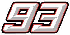 STICKER MARQUEZ MARC #93 AUTOCOLLANT MOTO GP 93 CHAMPION DU MONDE QA004