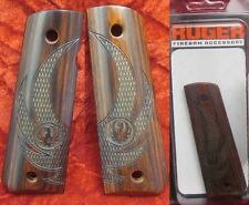 NEW RUGER Genuine Original OEM SR1911 SR 1911 EAGLE WINGS Wood Cocobolo grips