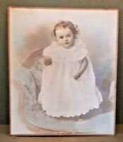 Antique Edwardian Colourised Photo Of Baby Date 1905 with provenance