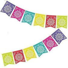 Fiesta Hawaiian Luau Mexican Flag Garland Banner Hanging Decoration