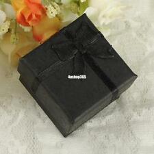 24x Square Black Carton Gift Box Present Case For Ring Jewelry Bracelet Necklace