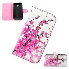 Luxury Leather Flower Pattern Flip Phone Case Wallet Cover For Motorola Moto E