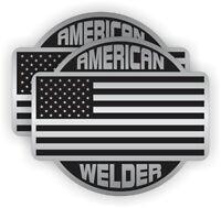 USA Hard Hat StickersFunny I MAKE $HIT HAPPEN Welding Helmet Decals Pair