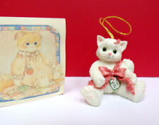 Itty Bitty Calico Kittens Kitten Wrapped In Bow Mini Kitty Cat Ornament