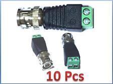 10 pcs Coax Cat5 To Camera Cctv Bnc Video Balun Connector
