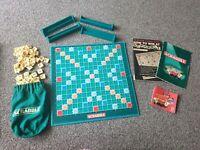 SCRABBLE ORIGINAL MATTEL GAMES RETRO VINTAGE BOARD GAME 1999 FAMILY FUN Complete
