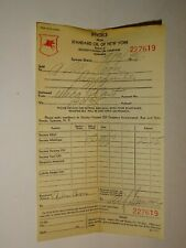original 1936 Standard Oil of New York SOCONY Invoice Receipt 227619 Gas