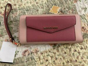 Michael Kors Pink Leather Wristlet Wallet NWT