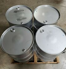 55 Gallon 304 Stainless Steel Drums Closed Top New Other Quantity 4