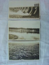 Lot of 3 Vintage Photos Best Log Jam By a Dam Site 789803